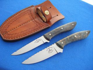 CUSTOM JOHN SLIM COLEMAN BACK POCKET KNIFE SET USA HANDMADE HUNT FISH