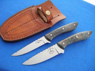 CUSTOM JOHN SLIM COLEMAN BACK POCKET KNIFE SET USA HANDMADE HUNT FISH