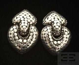 John Hardy Sterling Silver Dot Collection Heart Earrings