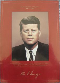 John F Kennedy Commemorative Coin and Stamp Portfolio