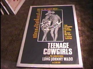 "Teenage Cowgirls ""B"" '73 Movie Poster Early John Holmes"