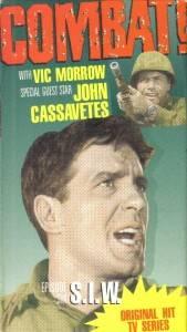 VHS Combat T V Show Vic Morrow Guest John Cassavetes |