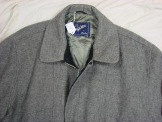 Vtg John Weitz by Aberdeen Satl Pepper Jacket Coat USA Made Ideal Zipper