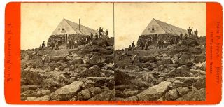 John Soule Boston MA Stereoview Tip Top House Summit MT Washington NH Tourists