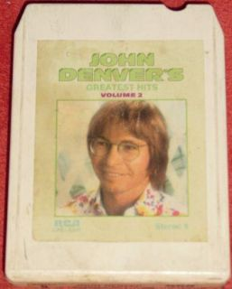 John Denver Greatest Hits Volume 2 Vintage 8 Track Tape Stereo Music Cartridge