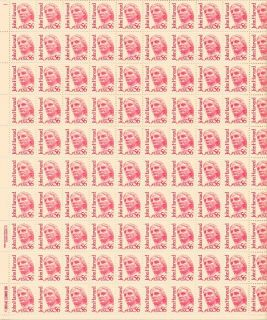 John Harvard Sheet of 100 x 56 Cent US Postage Stamps New Scot 2190