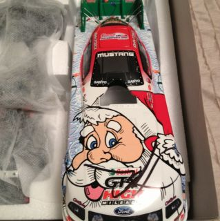 John Force 2008 Norwalk Night Under Fire Mustang Funny Car Autographed