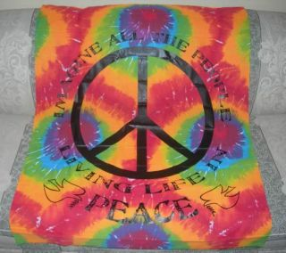 New Tie Dye Tapestry Imagine John Lennon Wall Decor Hanging Art Poster Flag NIP