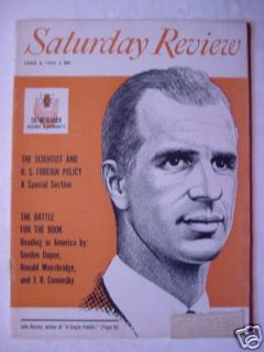 Saturday Review Magazine June 2 1956 John Hersey