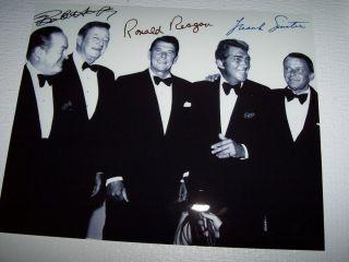 Frank Sinatra Ronald Reagan Bob Hope Dean Martin John Wayne Signed Autograph