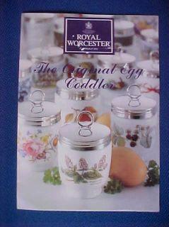 Royal Worcester Coddler Egg Cup Leaflet No1 24 Shown with Names