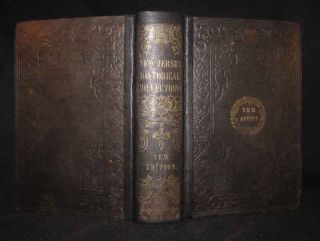 1857 New Jersey Antique History Towns Counties Epitaphs Battles Pirates Indians