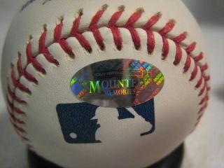 Pete Rose Signed 75 World Series MVP OML Baseball Mounted Memories Hologram