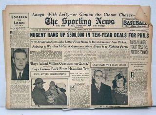Feb 18 1943 Sporting News Lefty Gomez John McGraw