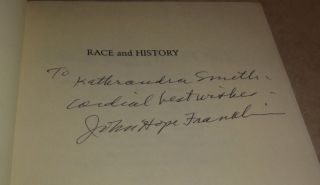 John Hope Franklin Signed HB DJ Race and History Essays 1938 1988 LSU Press
