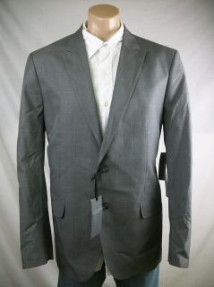 New Mens Sean John Gray Blue Glen Plaid Tailored Fit 2 Button Blazer 3X Large