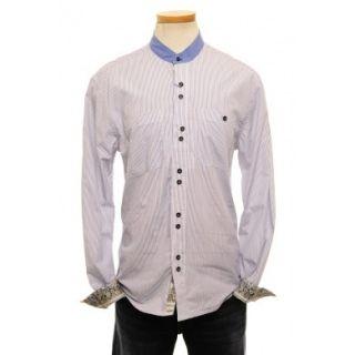 Men Blue Stripe Beatles English Laundry John Lennon Shirt Size M Medium New