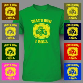 This is how I roll Funny John Deere Tractor vintage COUNTRY MUSIC Mens T Shirt