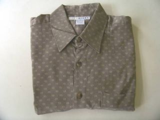 John Henry Men's Casual Shirt Size M Short Sleeve