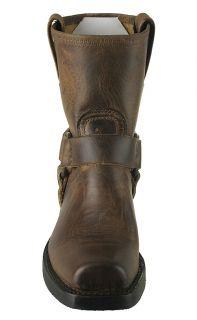Frye Womens Boots 8R Harness Dark Brown Leather 77455 Sz 8 5 M