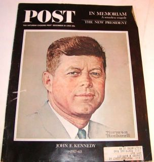 Dec 1963 Saturday Evening Post Magazine Norman Rockwell