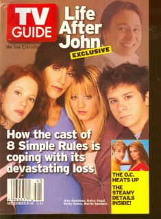 2003 TV Guide 8 Simple Rules John Ritter The O C
