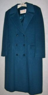 LNWOTs PENDLETON Blanket Wool Middy Double Breasted Coat 12 Turquoise