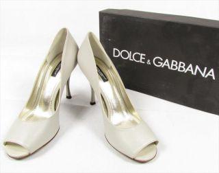 DOLCE GABBANA Simple Beauty high heels open peep toe heels shoes pumps gray