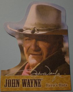 2005 Breygent John Wayne Hero's Hats Die Cut Card HH7