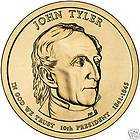 2009 1 John yler Presidenial 25 Dollar Bank Coin Roll MUS SEE |