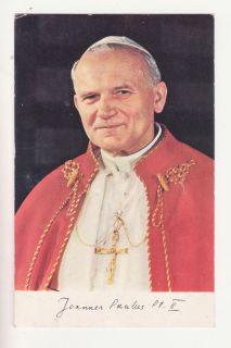 Catholic Vatican Relic Pope John Paul II Wojtyla Vestment SIGNATURE HOLY CARD
