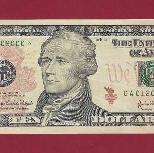 US Currency 2004A $10 Star Gem Federal Reserve Note Boston Old Paper Money