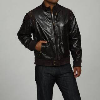 Mens Sean John Leather Jacket w Lamb Suede