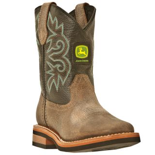 Youth John Deere Johnny Popper Brown Black Growing Boots JD2320 3320