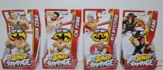 New 4 WWE Wrestling Rumblers Rampage Kane Rey Mysterio cm Punk John Cena