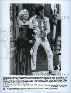 1988 Press Photo Full House John Stamos Arlene Lorre