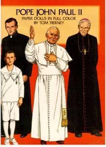 Tom Tierney Uncut Pope John Paul II Paper Dolls 1984 Mint