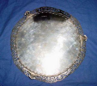 John Scofield Georgian Sterling Silver Salver Footed 1798 36 oz