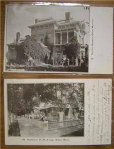 Postcard Lot Dillon Montana Orr Mansion Wm Knapp House