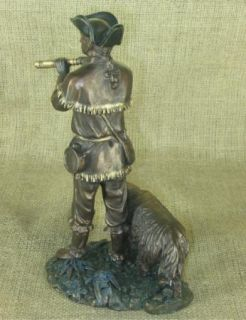 Large Lewis Clark w seaman bronze cast figure Statue 9 5 X 6 5 Artist John