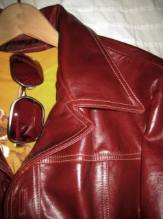 Fight Club Vintage Style Red Leather Jacket Handmade by Jonathan A Logan