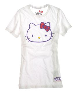 "Vans ""G Hello Kitty Passio"" Womens Crew Neck Tee T Shirt Style VN 0QXW6V5"