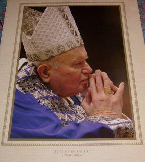 POPE JOHN PAUL II POSTER PICTURE POLISH POLSKI JUAN PABLO Religious God Jesus