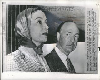 1963 Press Photo John Profumo and Wife Valerie Hobson