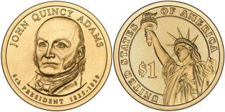 2008 John Quincy Adams Presidential Dollar Coin UNC