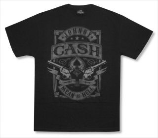 JOHNNY CASH MEAN AS HELL DISTRESSED BLACK T SHIRT NEW ADULT 2XL XXL