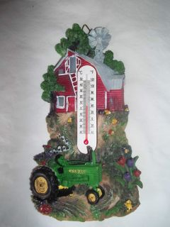 John Deere Advertising Wall Hanging Thermometer Tractor Barn Really Nice