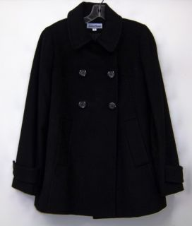 Jonathan Michael Double Breasted Button Coat Blk Sz 12