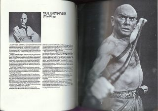 Yul Brynner Hye Young Choi The King I Souvenir Program CA 1981