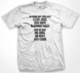 Steve Jobs Bob Hope Johnny Cash Mens T Shirt Celebrities Icon Stars Remembrance
